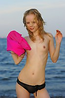 Angie Just Turned Eighteen And Goes Nude At The Beach - Picture 12