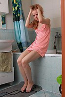 Tiny Blonde Teen Nude In The Bathroomm - Picture 2