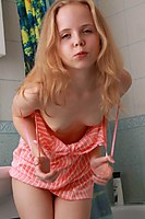 Tiny Blonde Teen Nude In The Bathroomm - Picture 5